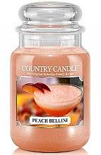 Духи, Парфюмерия, косметика Ароматическая свеча в банке - Country Candle Peach Bellini