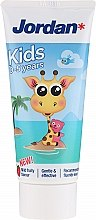 Духи, Парфюмерия, косметика Зубная паста 0-5 лет, жираф - Jordan Kids Toothpaste