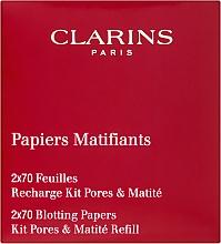Духи, Парфюмерия, косметика Матирующие салфетки - Clarins Kit Pores & Matite (сменный блок)