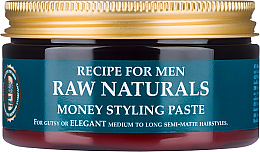 Духи, Парфюмерия, косметика Паста для волос - Recipe For Men RAW Naturals Money Styling Paste