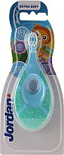Духи, Парфюмерия, косметика Детская зубная щетка Step By Step, 0-2 года, берюзово-голубая - Jordan Step By Step Soft