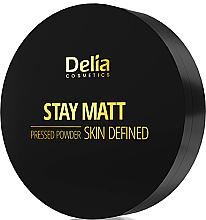 Духи, Парфюмерия, косметика Компактная матирующая пудра - Delia Stay Matt Skin Defined Pressed Powder