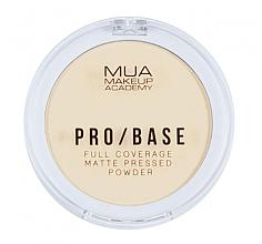Духи, Парфюмерия, косметика Компактная матирующая пудра для лица - MUA Pro-Base Full Coverage Matte Pressed Powder
