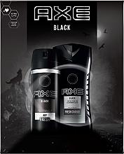 Духи, Парфюмерия, косметика Набор - Axe Black (deo/spray/150ml + sh/gel/250ml)