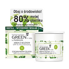 Духи, Парфюмерия, косметика Дневной крем для лица с сельдереем SPF 15 - Floslek Green For Skin Day Cream Refill