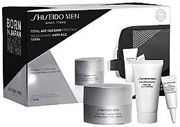 Духи, Парфюмерия, косметика Набор - Shiseido Men Total Age-Defense Program Set (cr/50ml + foam/30ml + eye/cr/3ml + bag)