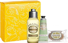 Духи, Парфюмерия, косметика Набор - L'Occitane Almond (sh/oil/75ml + h/cr/30ml + soap/50g + box)