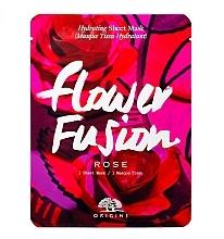 Духи, Парфюмерия, косметика Увлажняющая тканевая маска для лица с розой - Origins Flower Fusion Rose Hydrating Sheet Mask