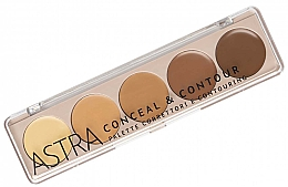 Духи, Парфюмерия, косметика Палетка для макияжа лица - Astra Palette Conceal&Contour Palette