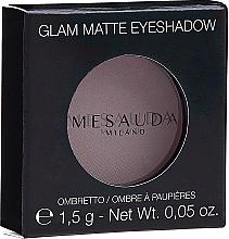 Духи, Парфюмерия, косметика Матовые тени для век - Mesauda Milano Glam Matte Eye Shadow