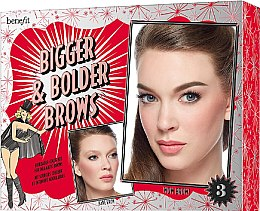 Духи, Парфюмерия, косметика Набор - Benefit Bigger & Bolder Brows Kit (brow/gel/3g + brow/hail/2.8g + brow/gel/3.5ml + асс) (03 -Medium)