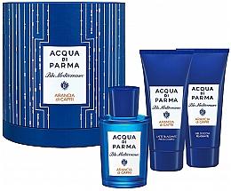 Духи, Парфюмерия, косметика Acqua di Parma Blu Mediterraneo Arancia di Capri - Набор (edt/75ml + sh/gel/75ml + b/lot/75ml)