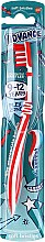 Духи, Парфюмерия, косметика Детская зубная щетка, 9-12 лет, красно-белая - Aquafresh Advance Soft