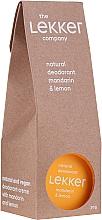 "Духи, Парфюмерия, косметика Дезодорант-крем ""Мандарин-лимон"" - The Lekker Company Natural Deodorant Mandarin & Lemon"