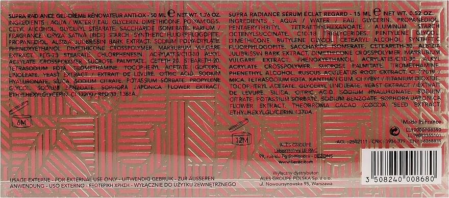 Набор - Lierac Supra Radiance (gel/cr/50ml + eye/ser/15ml) — фото N3