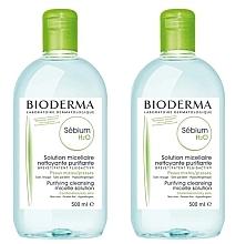Духи, Парфюмерия, косметика Набор - Bioderma Sebium H2O Micellaire Solution (2xsolution/500ml)