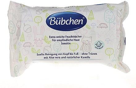 Влажные очищающие салфетки - Bubchen Sensitive Care — фото N1
