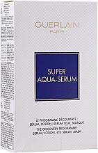 Духи, Парфюмерия, косметика Набор - Guerlain Super Aqua Serum Set (serum/50ml + eye/serum/5ml + mask/1pcs + lot/15ml)