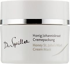 Духи, Парфюмерия, косметика Увлажняющая и успокаивающая крем-маска с маслом зверобоя - Dr. Spiller Honey St.John's Wort Cream Mask