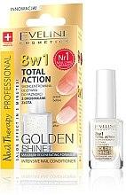 Духи, Парфюмерия, косметика Средство для эффективной и быстрой регенерации ногтей 8в1 - Eveline Cosmetics Nail Therapy Professional Golden Shine