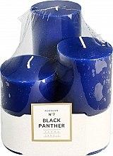 Духи, Парфюмерия, косметика Набор ароматических свечей - Artman Glass Classic Perfume №7 Black Panther Candle (candle/3pc)