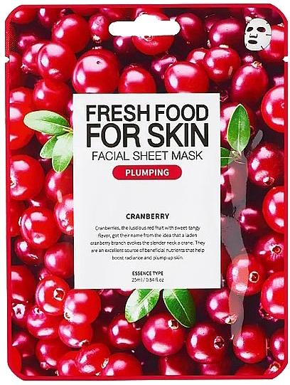 "Тканевая маска для лица ""Клюква"" - Superfood For Skin Facial Sheet Mask Cranberry Plumping — фото N1"