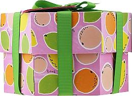 Духи, Парфюмерия, косметика Набор - Bomb Cosmetics Fruit Basket Hexagonal Gift Box (b/bomb/2pcs + soap/2pcs + b/scr/120ml + sh/gel/120ml)