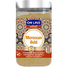 Духи, Парфюмерия, косметика Соль для ванны - On Line Senses Bath Salt Moroccan Gold