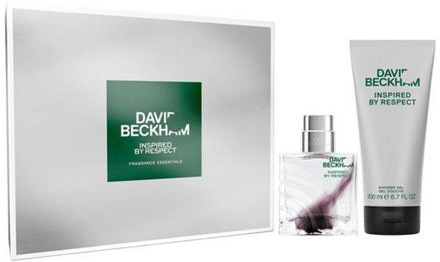David Beckham Inspired by Respect - Набор (edt/40ml + sh/gel/200ml) — фото N1