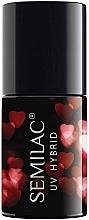 Духи, Парфюмерия, косметика Гибридный лак для ногтей - Semilac Platinum UV Hybrid Valentine