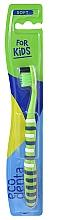 Духи, Парфюмерия, косметика Детская зубная щетка, мягкая, зеленая - Ecodenta Soft Toothbrush For Children
