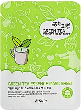 Духи, Парфюмерия, косметика Тканевая маска c зеленым чаем - Esfolio Pure Skin Green Tea Essence Mask Sheet