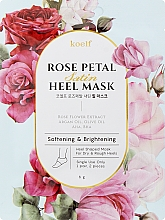 Духи, Парфюмерия, косметика Смягчающая маска для пяток - Petitfee&Koelf Rose Petal Satin Heel Mask