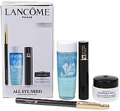 Духи, Парфюмерия, косметика Набор - Lancome All Eye Need Travel Set (eye/cr/5ml + makeup remover/30ml + mascara/2ml + crayon/0,7g)