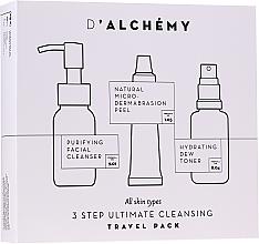 Духи, Парфюмерия, косметика Набор - D'Alchemy 3 Step Ultimate Cleansing Travel Pack (toner/30ml + f/cleanser/50ml + f/peel/15ml)
