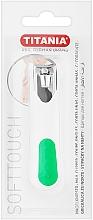 Духи, Парфюмерия, косметика Книпсер для ногтей хромированный, белый с зеленым - Titania