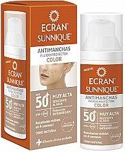Духи, Парфюмерия, косметика Солнцезащитный уход за лицом - Ecran Sunnique Antimanchas Color Spf50+