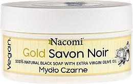 Духи, Парфюмерия, косметика Черное мыло с оливковым маслом - Nacomi Savon Noir Natural Black Soap with Extra Virgin Olive Oil