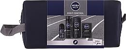 Духи, Парфюмерия, косметика Набор - Nivea Men Deep Control 2020 (sh/gel/250ml + ash/lot/100ml + foam/200ml + deo/50ml + bag)