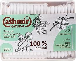 Духи, Парфюмерия, косметика Ватные палочки, 200 шт - Cashmir Natural Cotton Buds (в коробке)