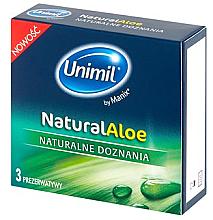 Духи, Парфюмерия, косметика Презервативы для нее, 3 шт - Unimil Natural Aloe