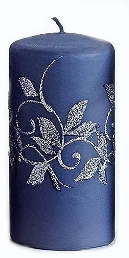 Декоративная свеча, темно-синяя, 7x14 см - Artman Amelia — фото N1