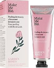 Духи, Парфюмерия, косметика Пилинг для лица с цветочными кислотами - Make Me Bio Garden Roses Face Peeling With Floral Acids