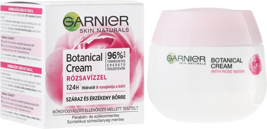 Дневной увлажняющий крем для сухой и чувствительной кожи - Garnier Skin Naturals Soft Essentials Hydrating Care 24h Day Face Cream — фото N1