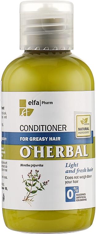 Бальзам-кондиционер для жирных волос с экстрактом мяты - O'Herbal — фото N1