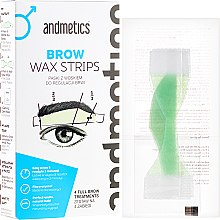 Духи, Парфюмерия, косметика Набор для коррекции бровей - Andmetics Brow Wax Strips Men (strips/4x2pc + strips/4x2pc + wipes/4pc)