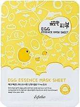 Духи, Парфюмерия, косметика Тканевая маска для лица яичная - Esfolio Pure Skin Egg Essence Mask Sheet