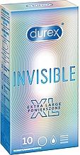 Духи, Парфюмерия, косметика Презервативы, 10 шт - Durex Invisible Extra Large