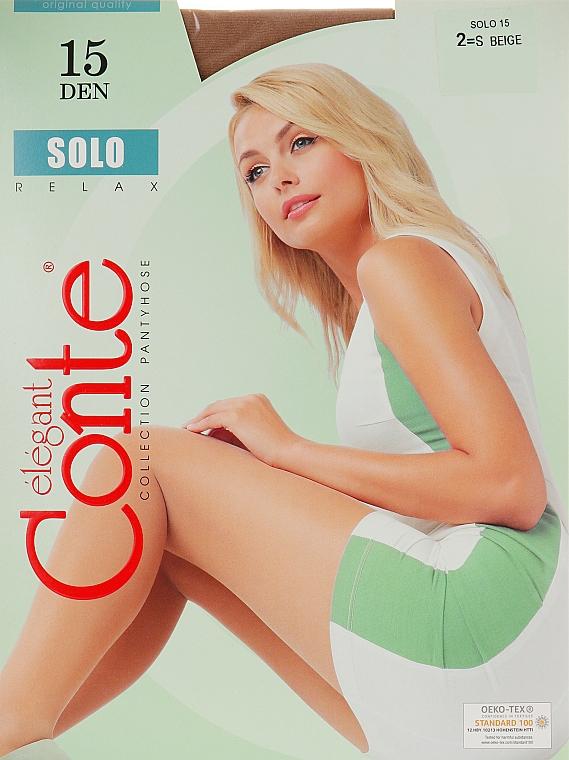 "Колготки ""Solo"" 15 Den, beige - Conte — фото N1"
