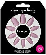 Духи, Парфюмерия, косметика Набор искусственных ногтей с клеем, 3054 - Donegal Express Your Beauty